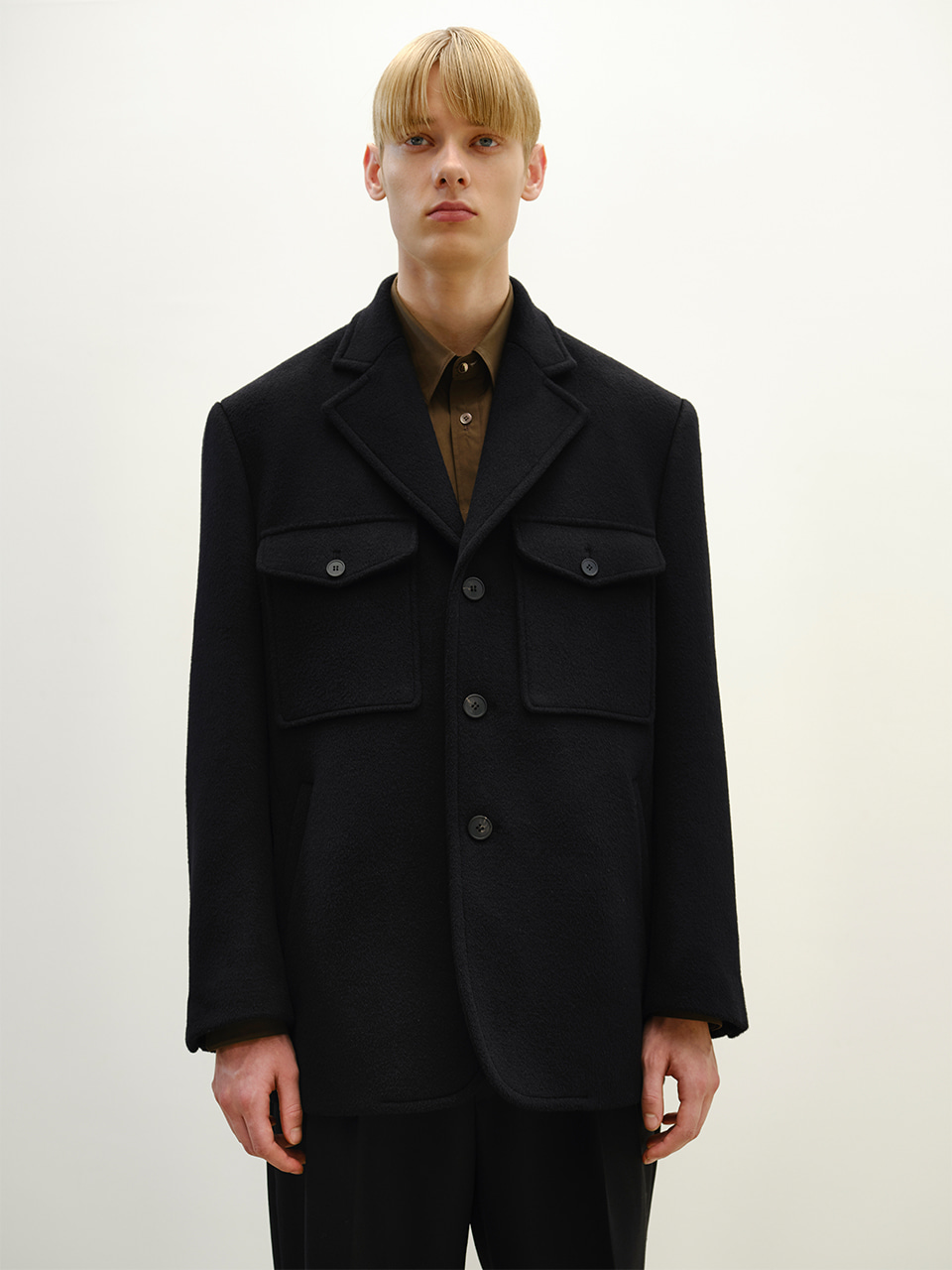 [FW20] FLAP POCKET BLAZER COAT(Black) IEY [FW20] FLAP POCKET BLAZER COAT(Black)