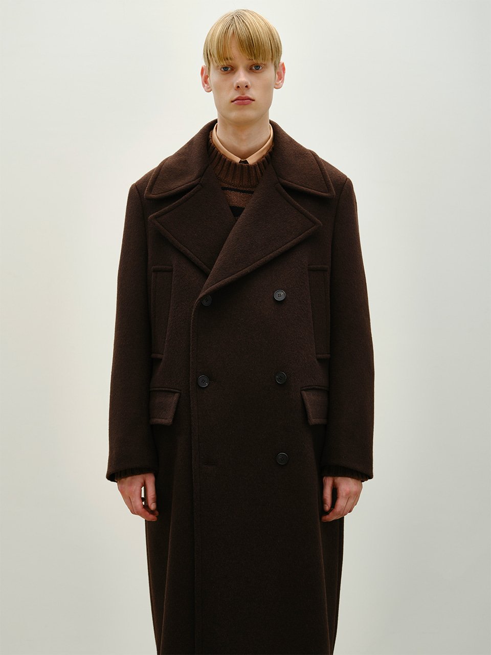 [FW20] DOUBLE CASHMERE OVER COAT(Dark Beige) IEY [FW20] DOUBLE CASHMERE OVER COAT(Dark Beige)