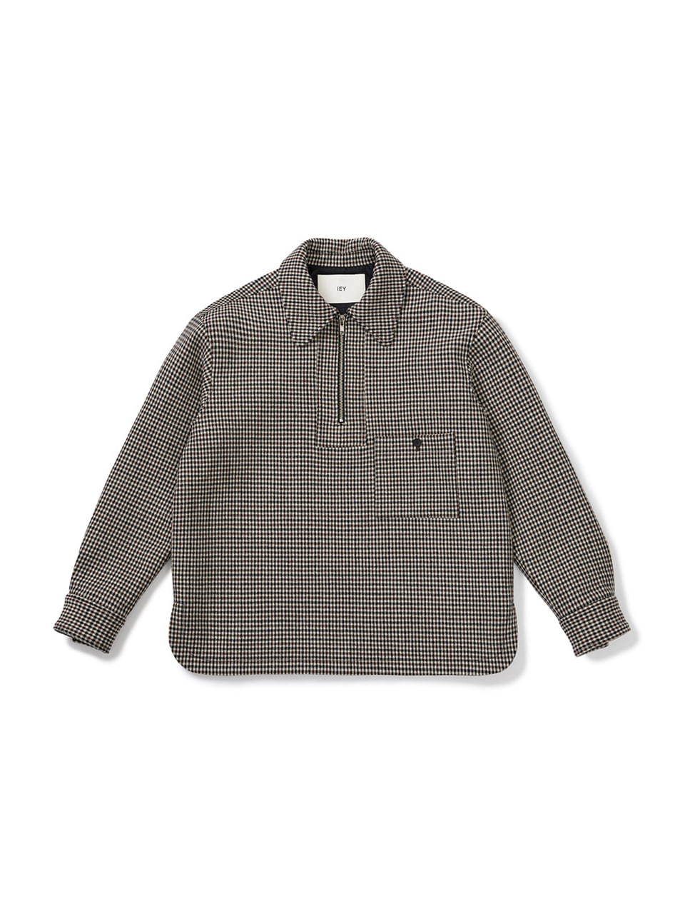 [FW20] HALF ZIP-UP OVER SHIRTS(Dark Beige) IEY [FW20] HALF ZIP-UP OVER SHIRTS(Dark Beige)