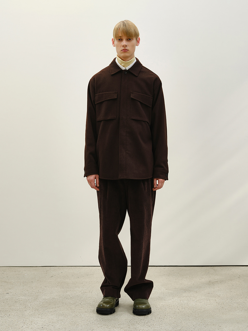 [FW20] TAILORED WIDE PANTS(Dark Beige) IEY [FW20] TAILORED WIDE PANTS(Dark Beige)