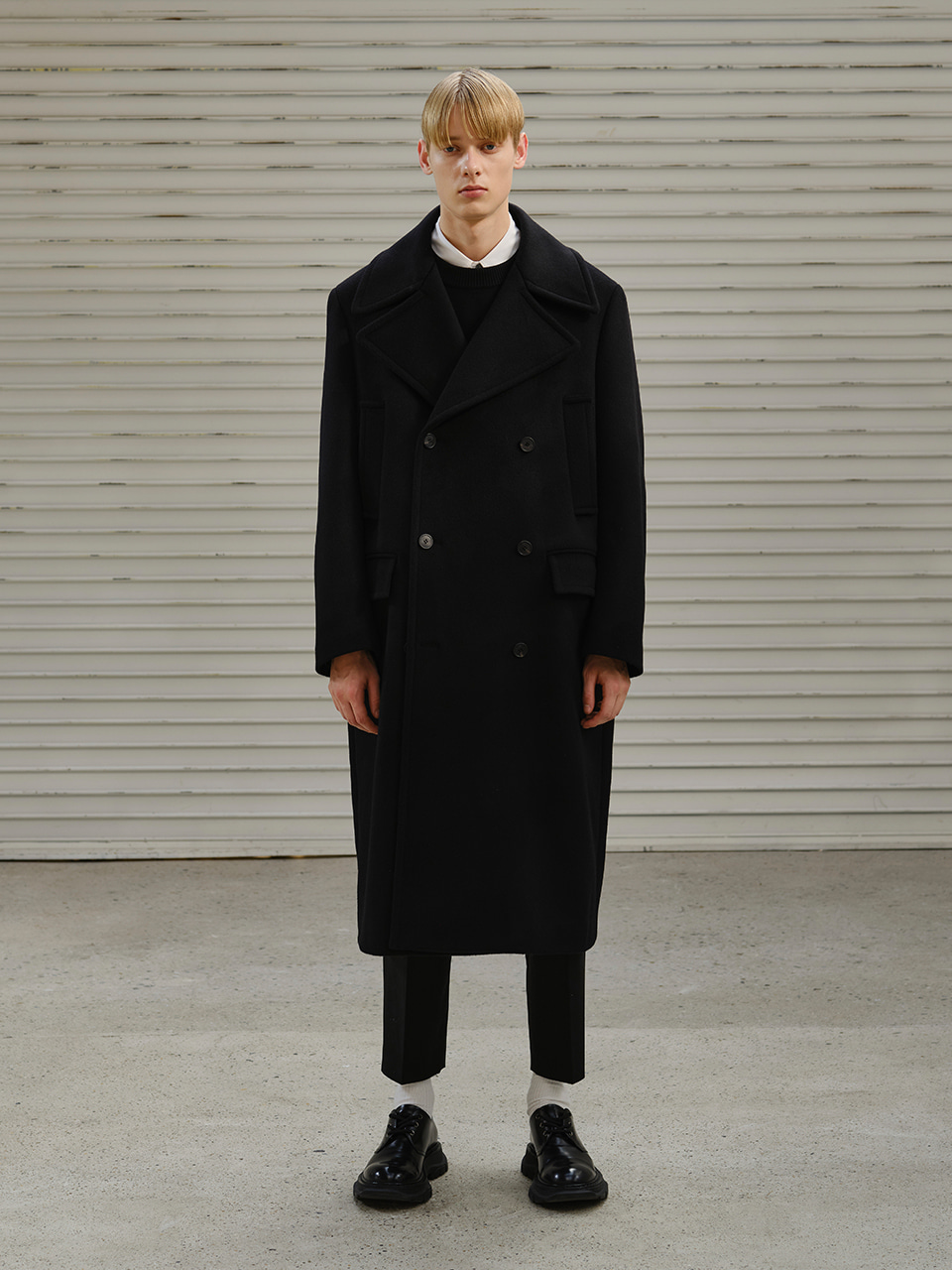 [FW20] DOUBLE CASHMERE OVER COAT(Black) IEY [FW20] DOUBLE CASHMERE OVER COAT(Black)